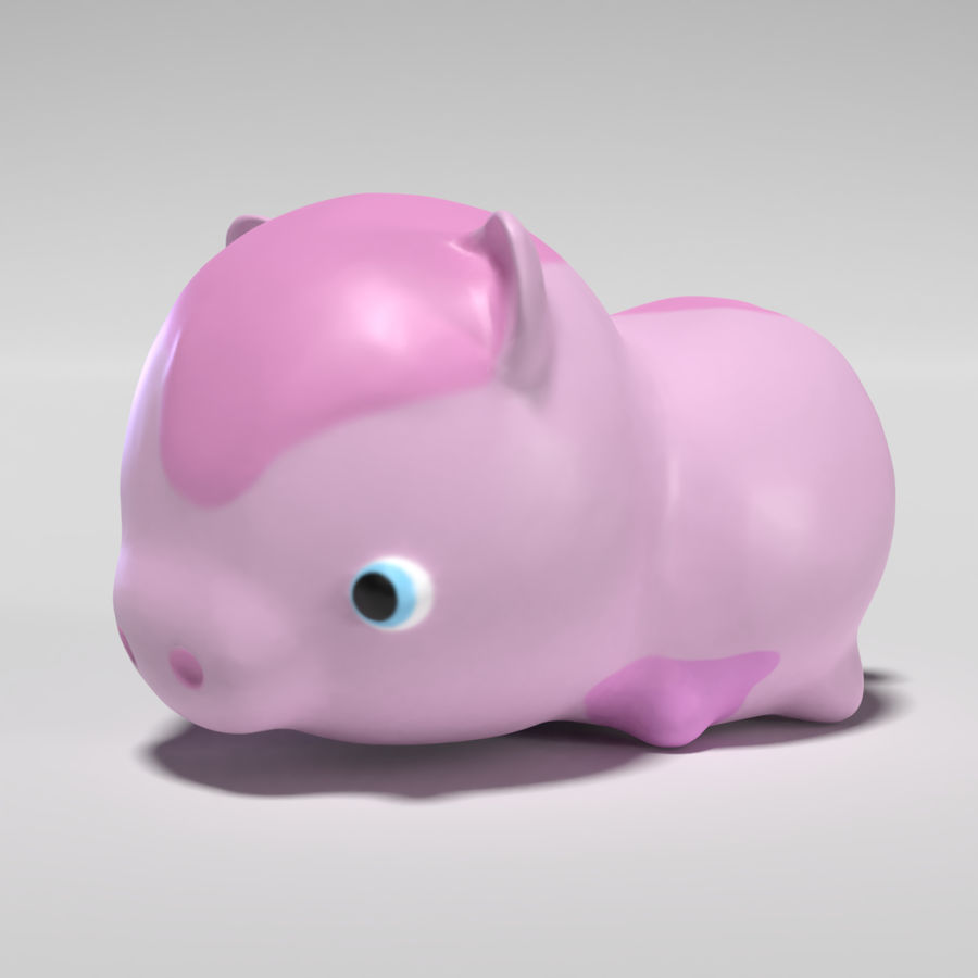 Cute Pig royalty-free 3d model - Preview no. 1