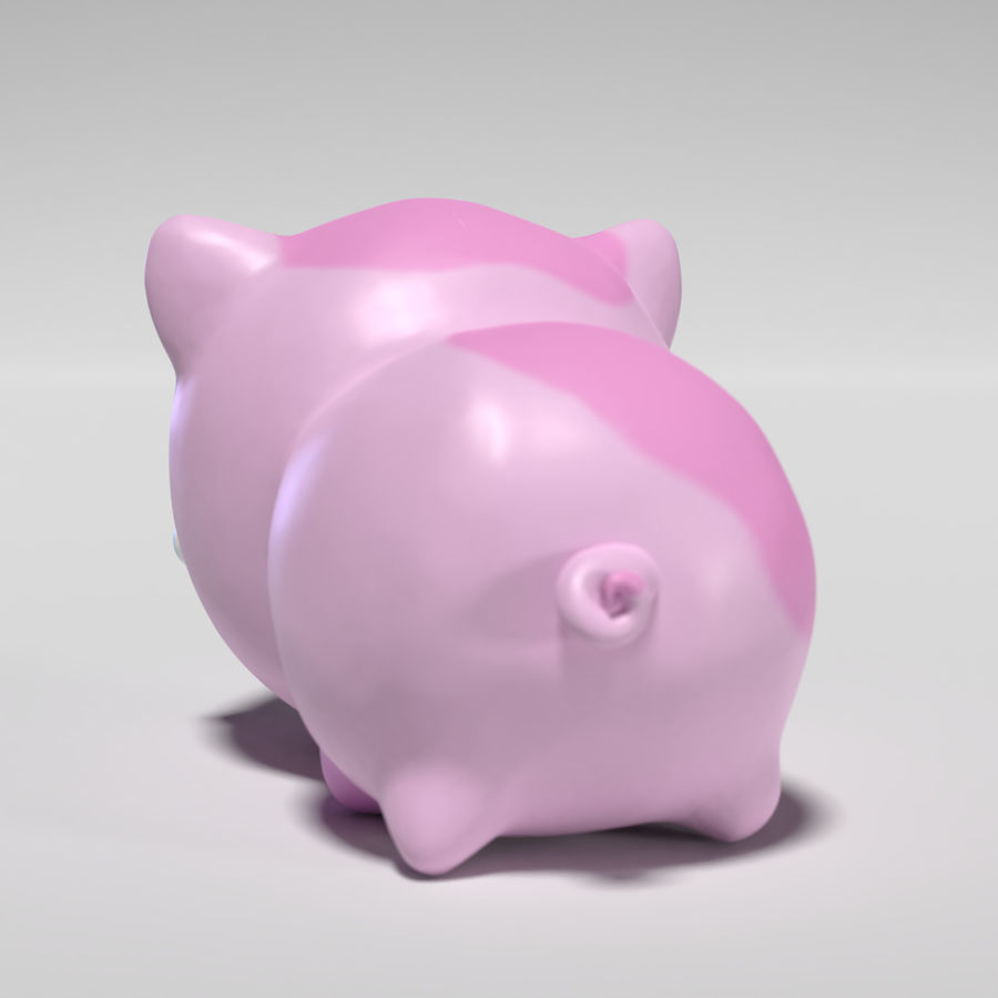 Cute Pig royalty-free 3d model - Preview no. 4