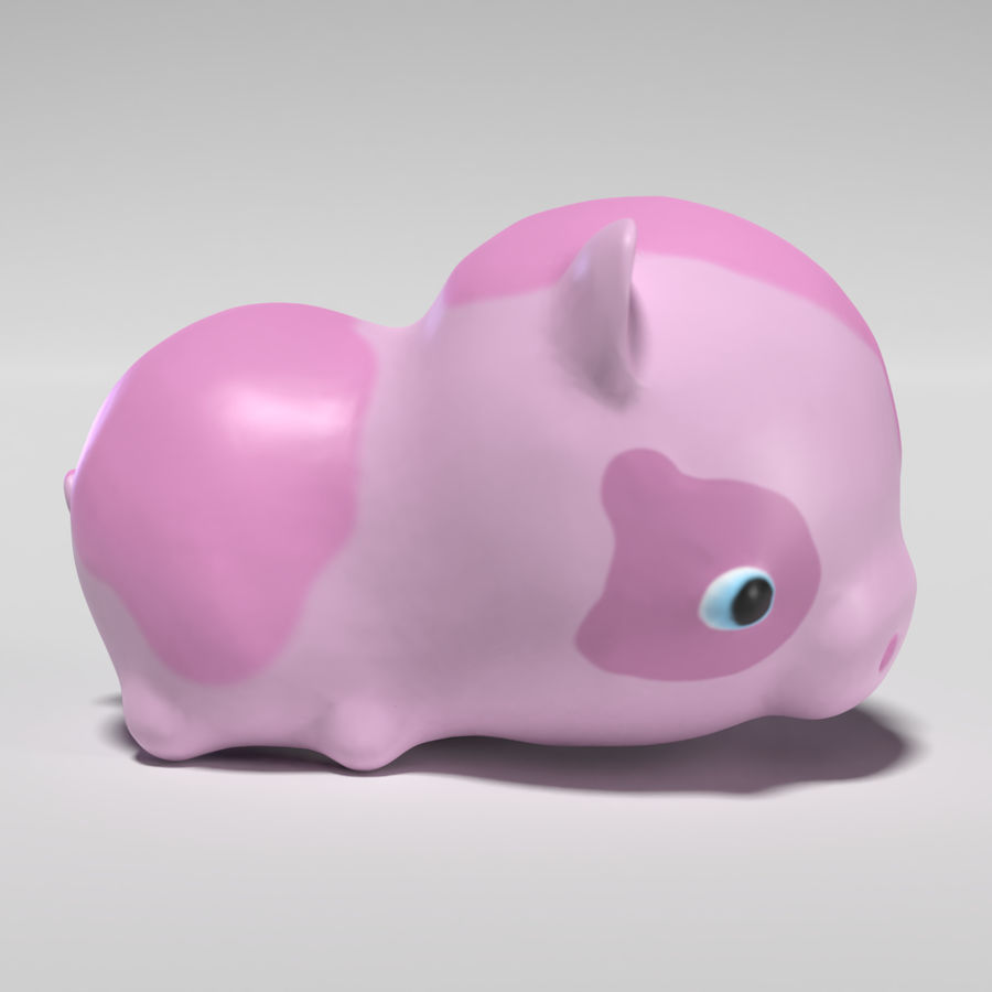 Cute Pig royalty-free 3d model - Preview no. 5