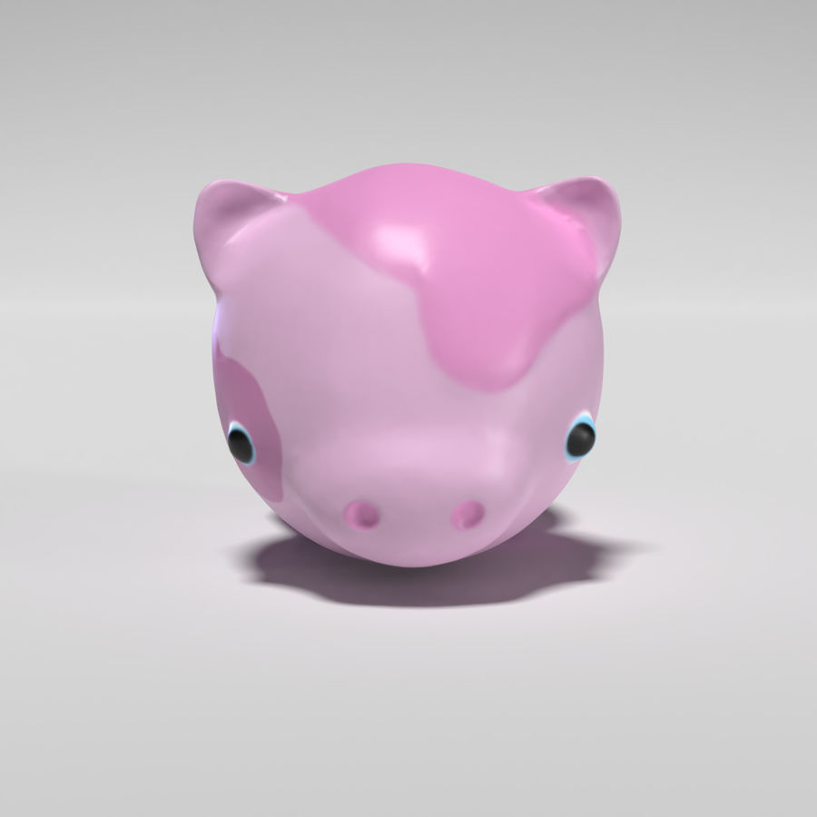 Cute Pig royalty-free 3d model - Preview no. 2
