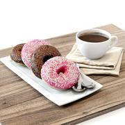 Coffee shop | Donuts set 02 3d model