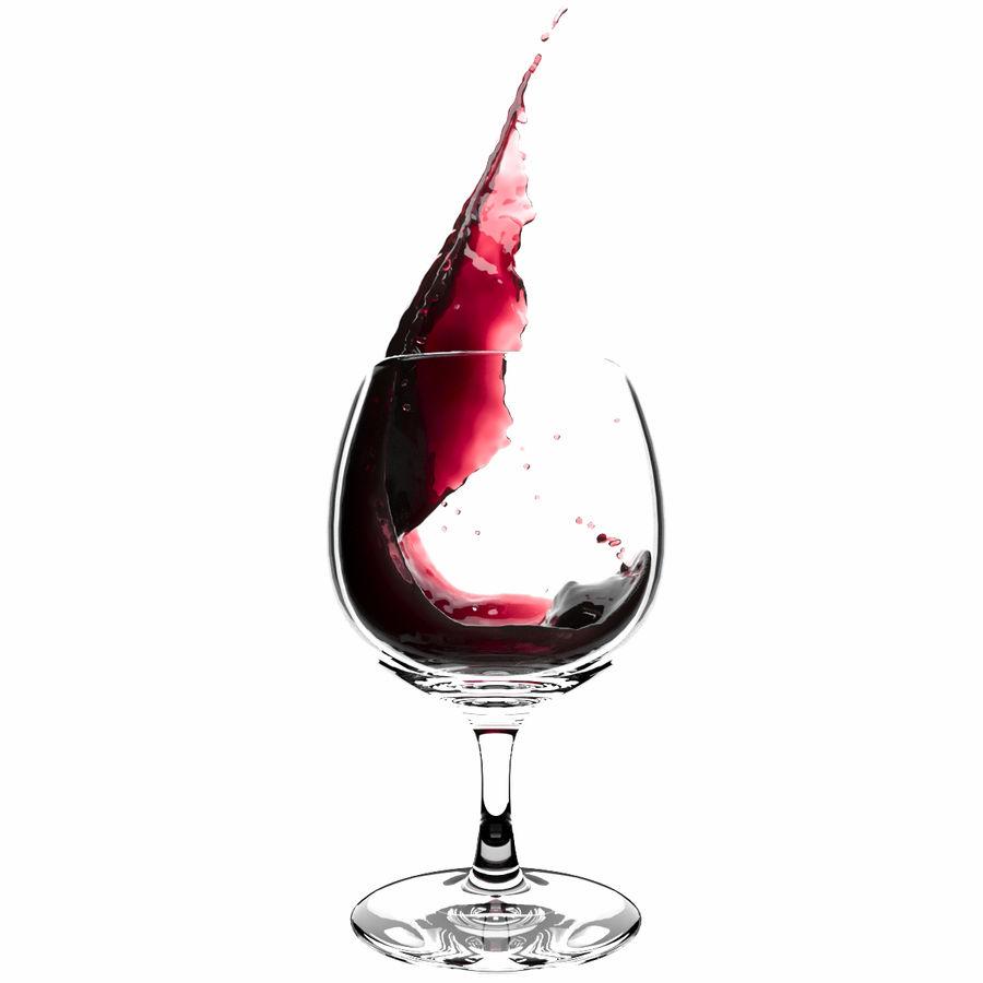 スプラッシュワイングラス1 royalty-free 3d model - Preview no. 1