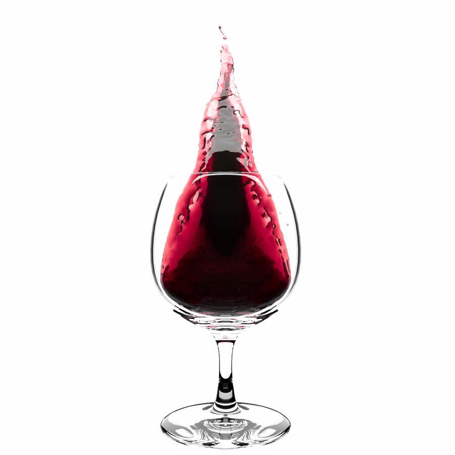 スプラッシュワイングラス1 royalty-free 3d model - Preview no. 4
