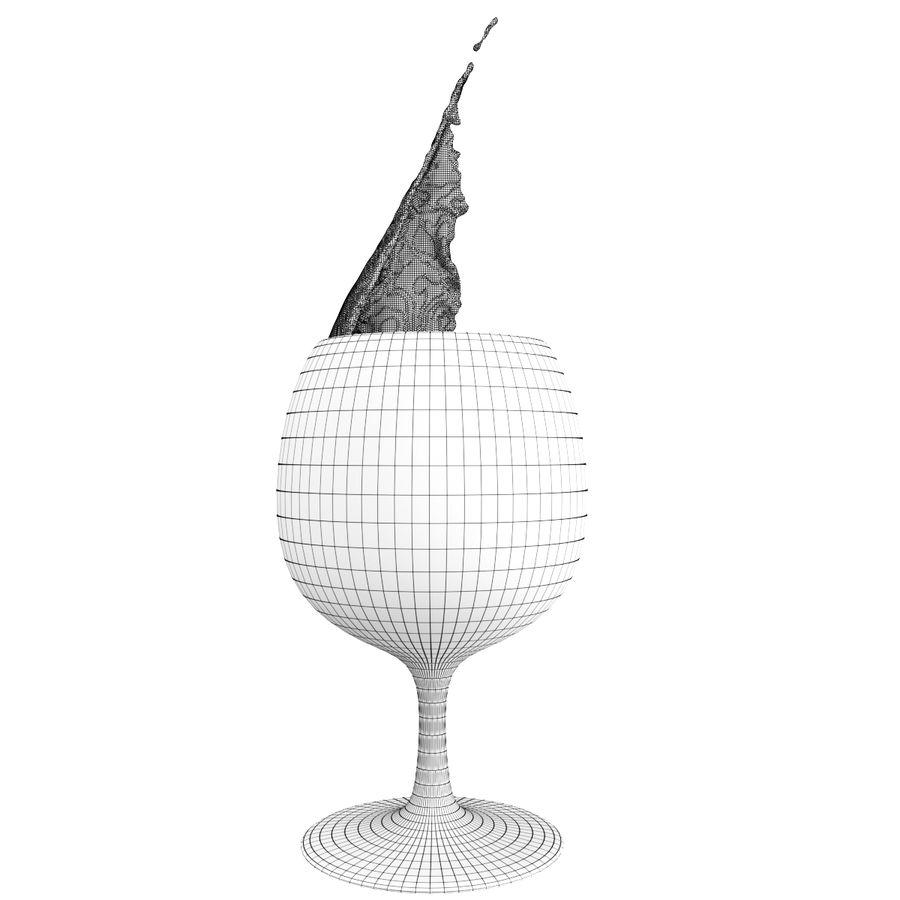 スプラッシュワイングラス1 royalty-free 3d model - Preview no. 5