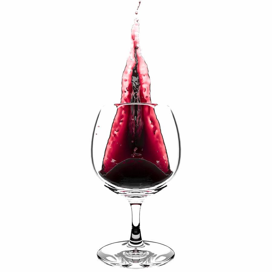 スプラッシュワイングラス1 royalty-free 3d model - Preview no. 2