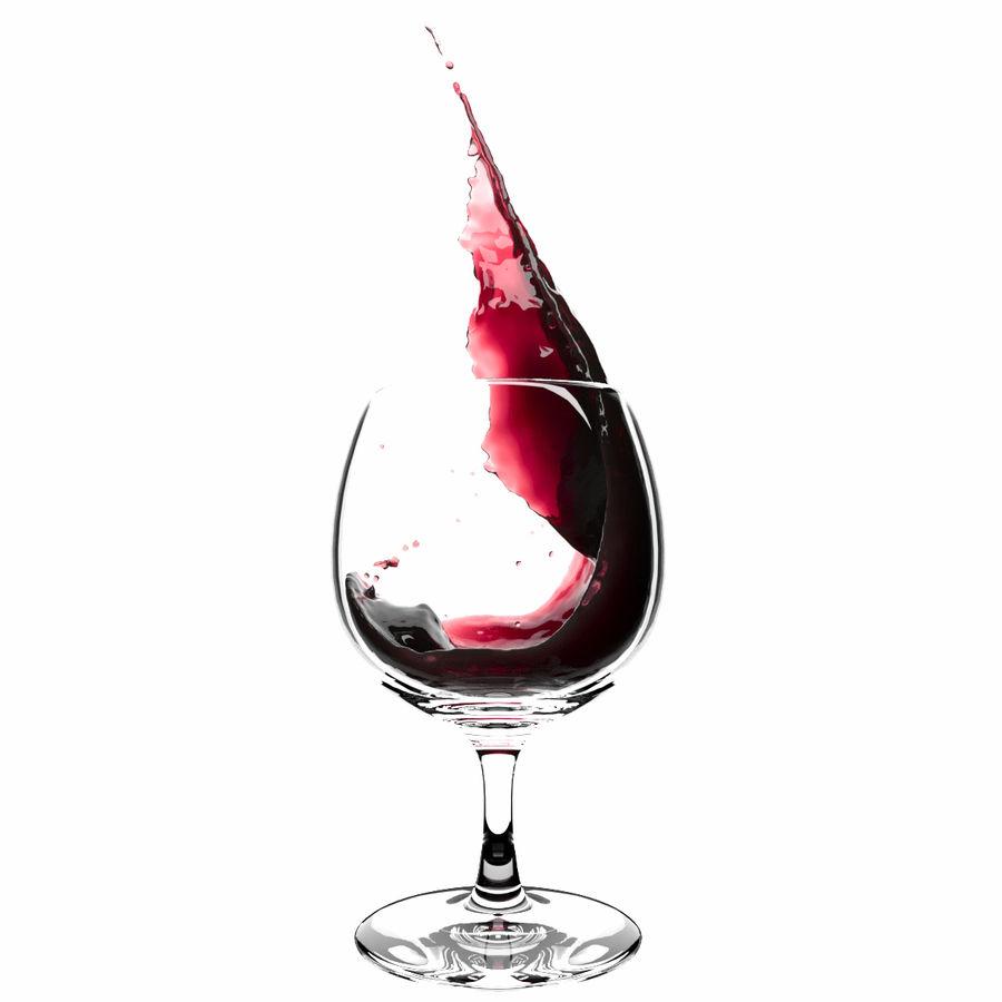 スプラッシュワイングラス1 royalty-free 3d model - Preview no. 3