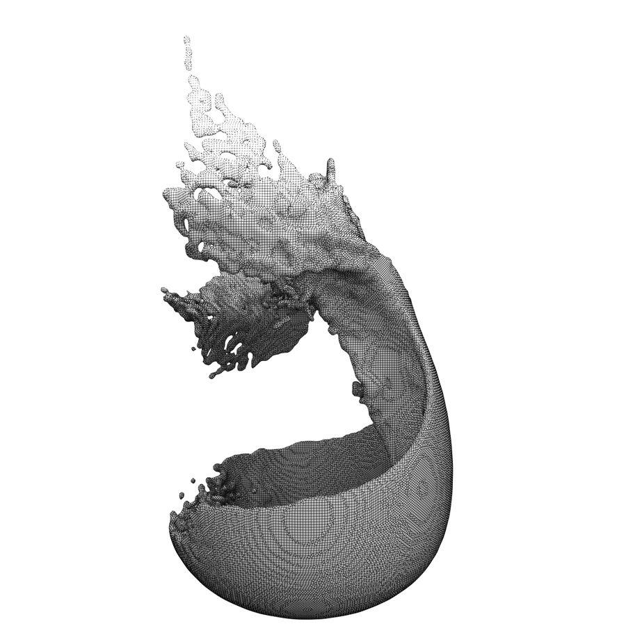 スプラッシュワイングラス3 royalty-free 3d model - Preview no. 6