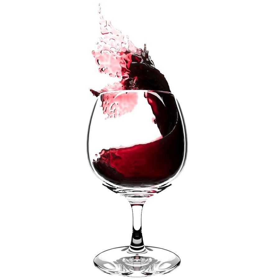 スプラッシュワイングラス3 royalty-free 3d model - Preview no. 1