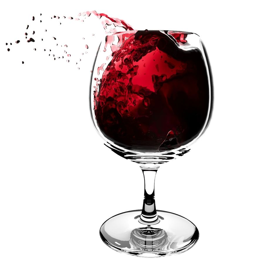 Splash Wineglass 5 royalty-free 3d model - Preview no. 1