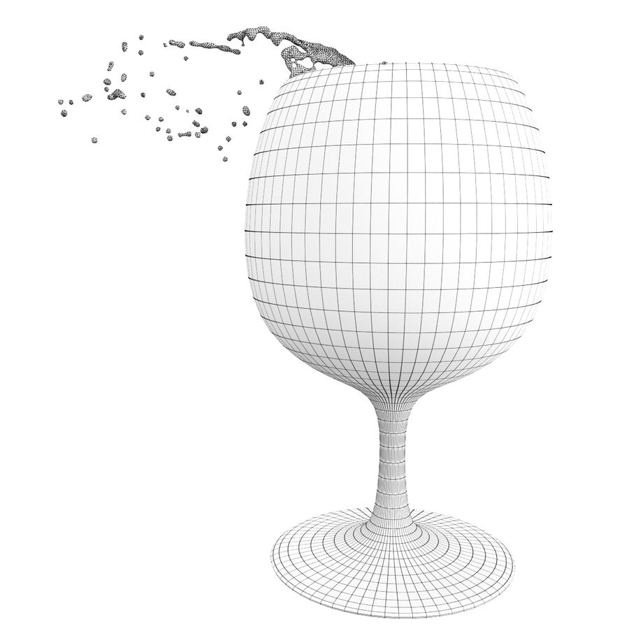 Splash Wineglass 5 royalty-free 3d model - Preview no. 5