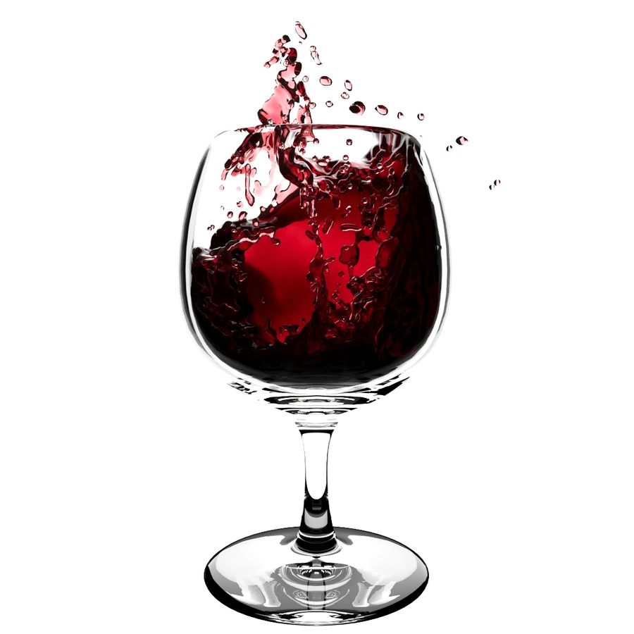 Splash Wineglass 5 royalty-free 3d model - Preview no. 2