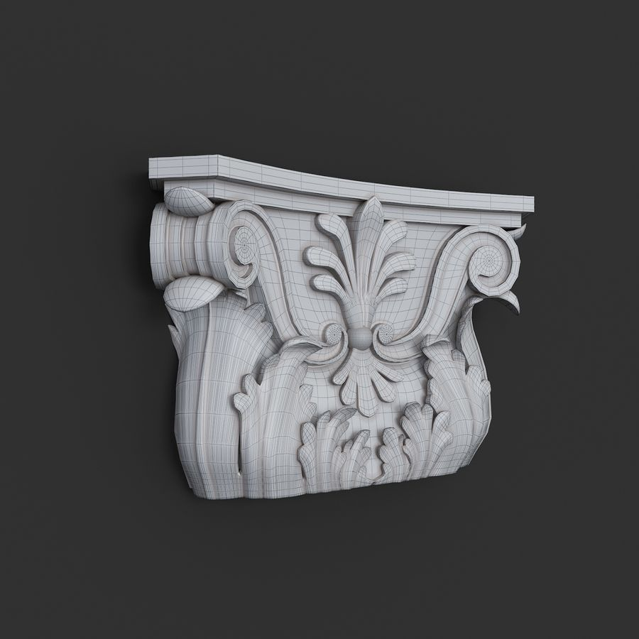 column capital royalty-free 3d model - Preview no. 3