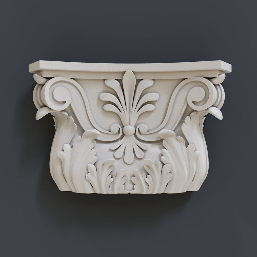 column capital royalty-free 3d model - Preview no. 1