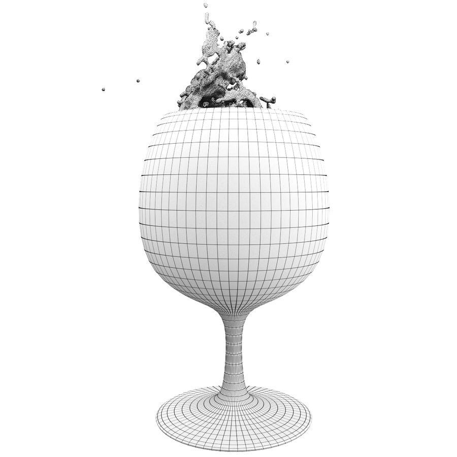 Copa de vino Splash 6 royalty-free modelo 3d - Preview no. 5