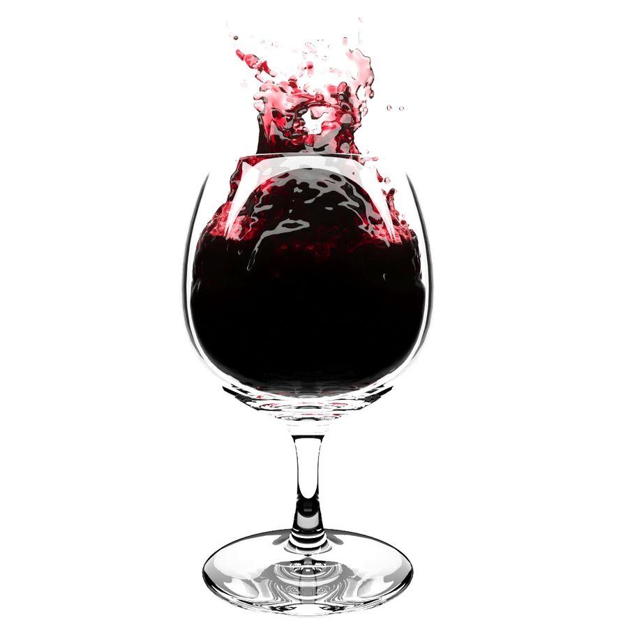 Copa de vino Splash 6 royalty-free modelo 3d - Preview no. 2