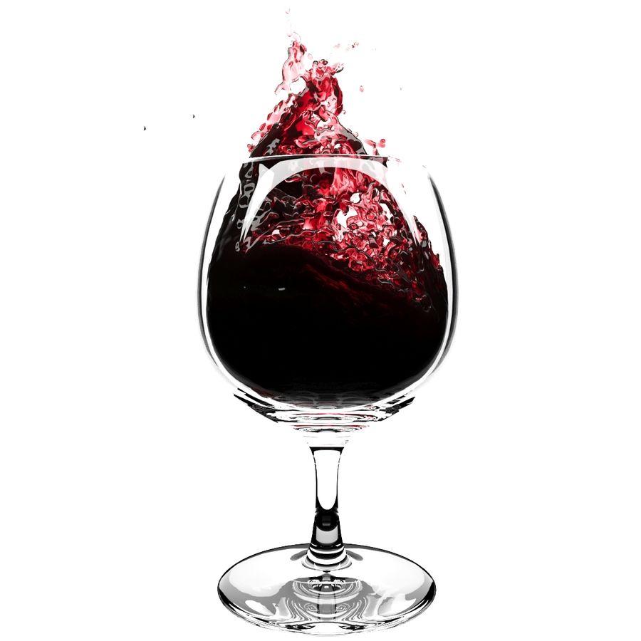 Copa de vino Splash 6 royalty-free modelo 3d - Preview no. 1
