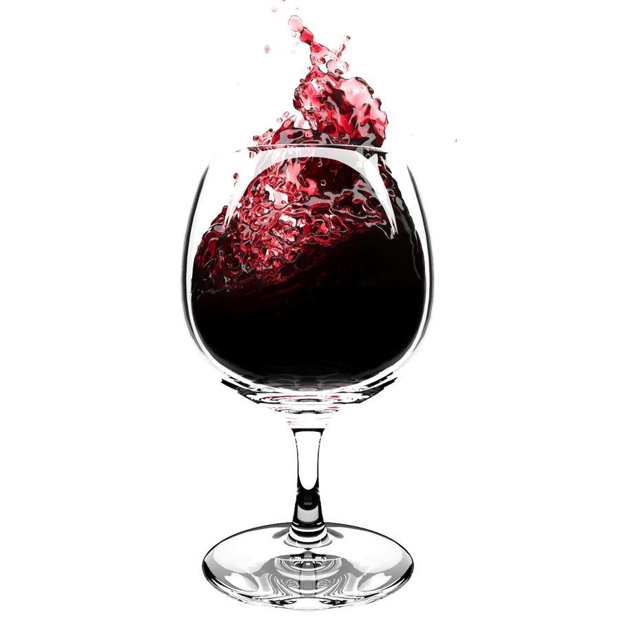 Copa de vino Splash 6 royalty-free modelo 3d - Preview no. 3