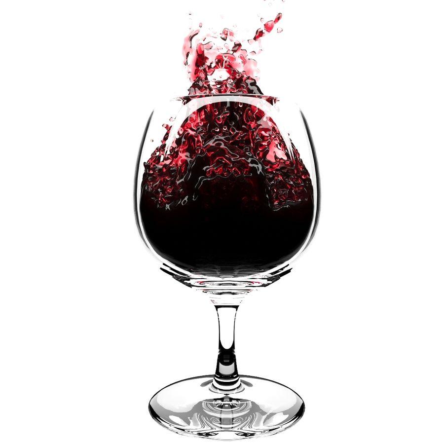 Copa de vino Splash 6 royalty-free modelo 3d - Preview no. 4