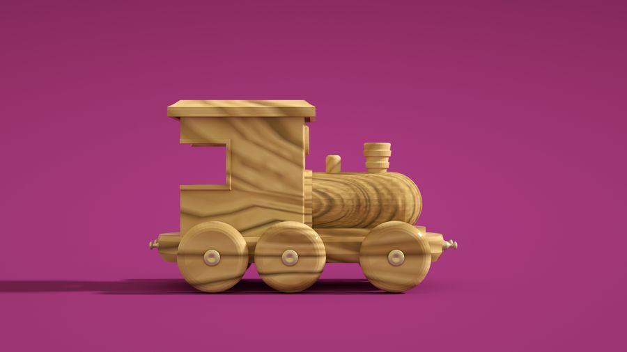 Oyuncak Tren-Lokomotif royalty-free 3d model - Preview no. 4