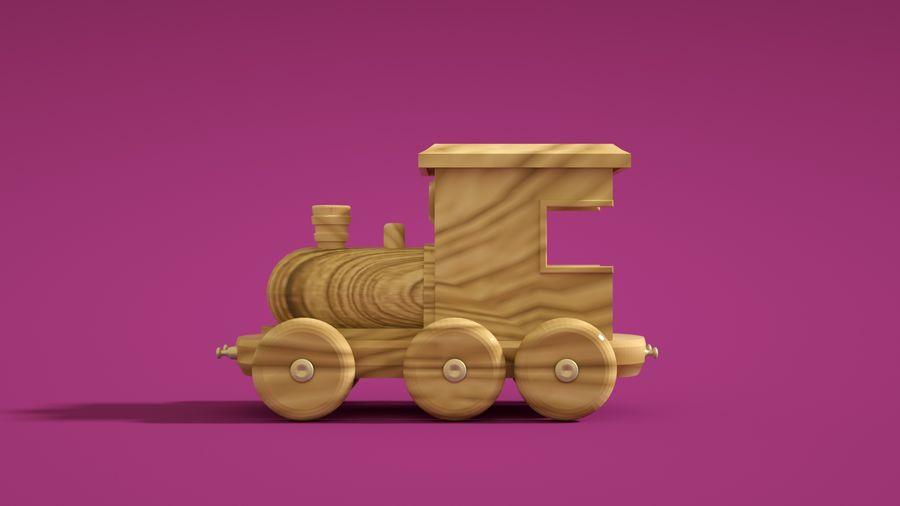 Oyuncak Tren-Lokomotif royalty-free 3d model - Preview no. 5