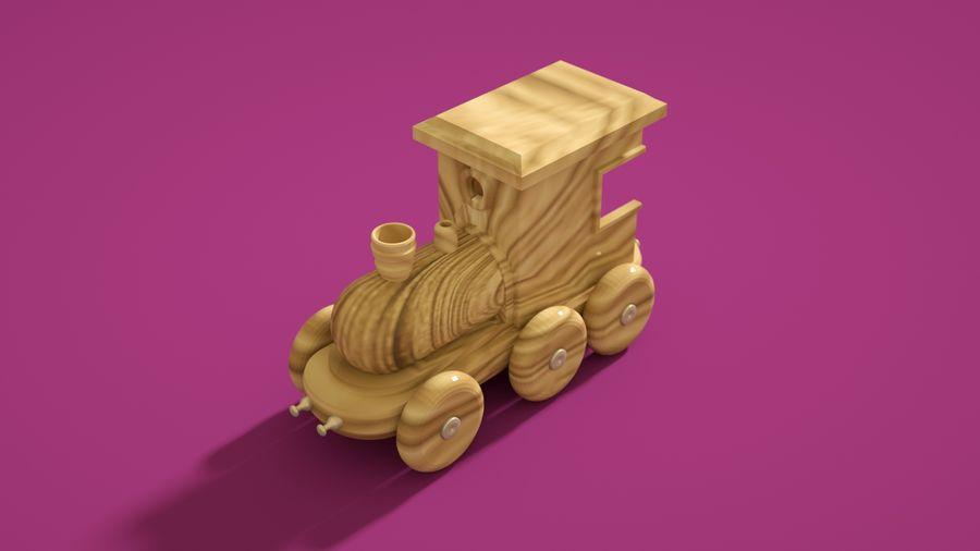 Oyuncak Tren-Lokomotif royalty-free 3d model - Preview no. 2