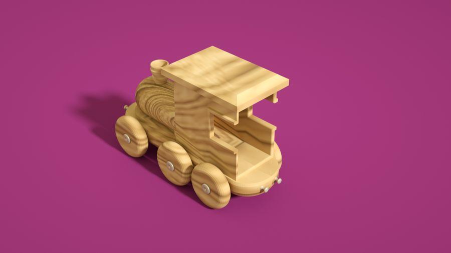 Oyuncak Tren-Lokomotif royalty-free 3d model - Preview no. 1