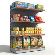 超市货架宠物食品 3d model