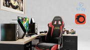 Gamer Desk League of Legends 3d model