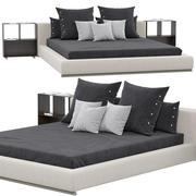 Flexform地面床 3d model