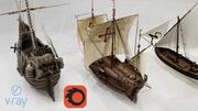 세 개의 클래식 배송 3d model