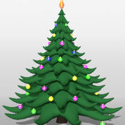 Christmas tree cartoon 3d model