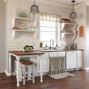 普罗旺斯风格的厨房 3d model