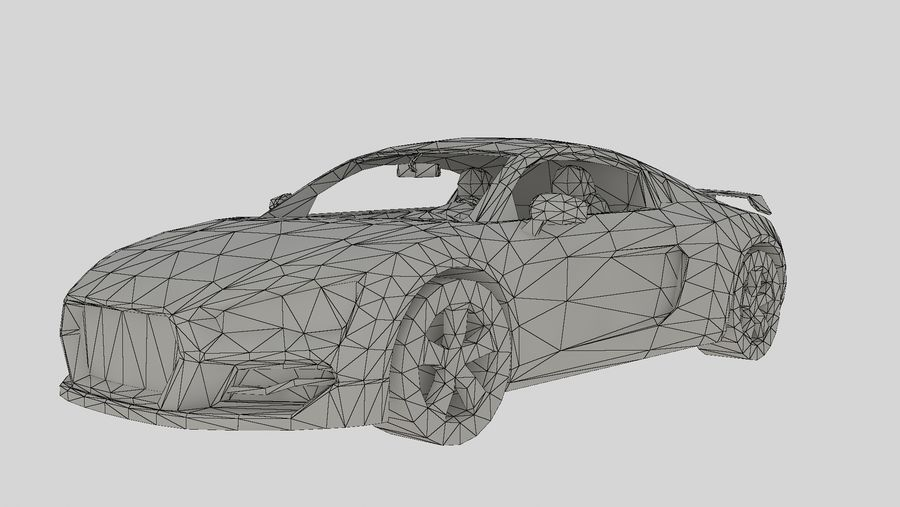 Auto R8 Low-Poly royalty-free 3d model - Preview no. 5