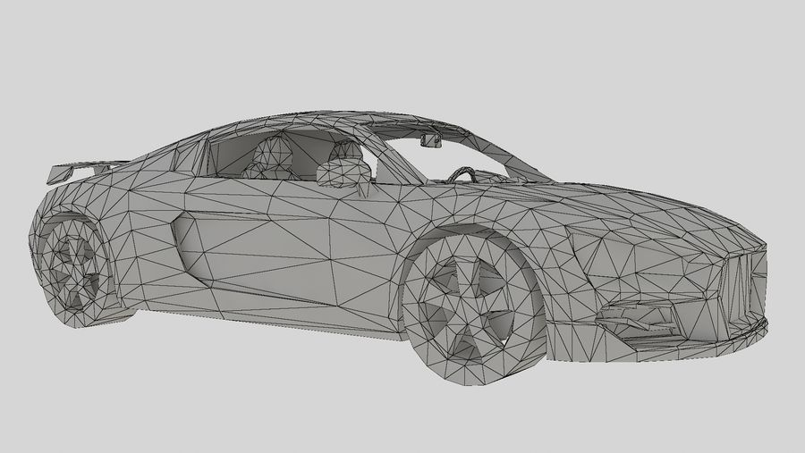 Auto R8 Low-Poly royalty-free 3d model - Preview no. 6