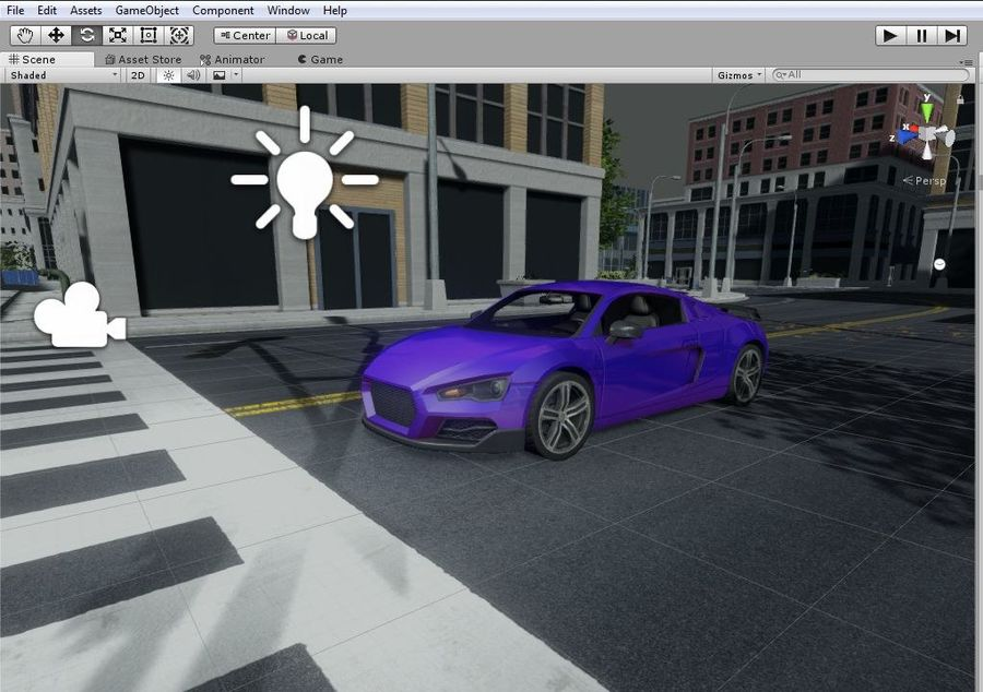 Auto R8 Low-Poly royalty-free 3d model - Preview no. 4