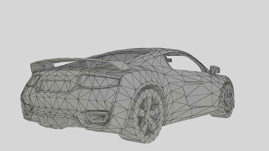 Auto R8 Low-Poly royalty-free 3d model - Preview no. 7