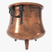 Copper cauldron 3d model