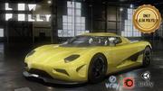 Samochód sportowy Low Poly 3d model