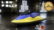Jet Ski Low Poly 3d model