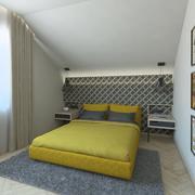 화려한 침실 3d model
