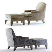 Hickory Chair Boyd and Ottoman 3d model