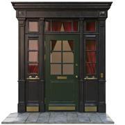 Ingång klassisk dörr 11 3d model