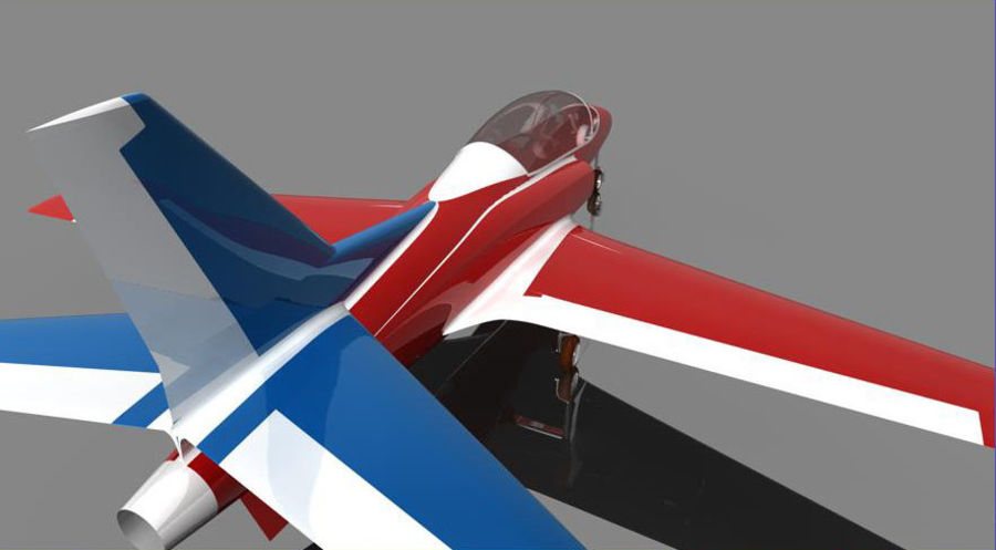 Viper jet royalty-free 3d model - Preview no. 7