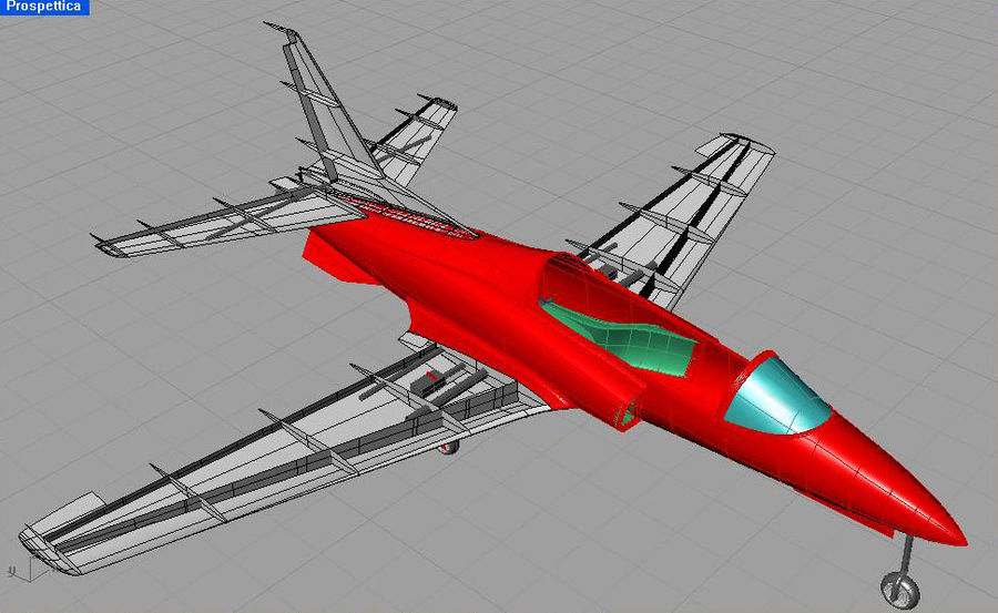 Viper jet royalty-free 3d model - Preview no. 29
