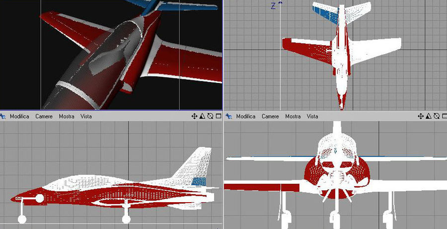 Viper jet royalty-free 3d model - Preview no. 15