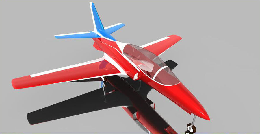 Viper jet royalty-free 3d model - Preview no. 3