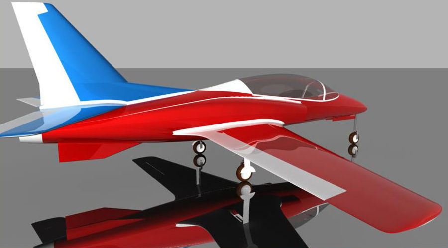 Viper jet royalty-free 3d model - Preview no. 6