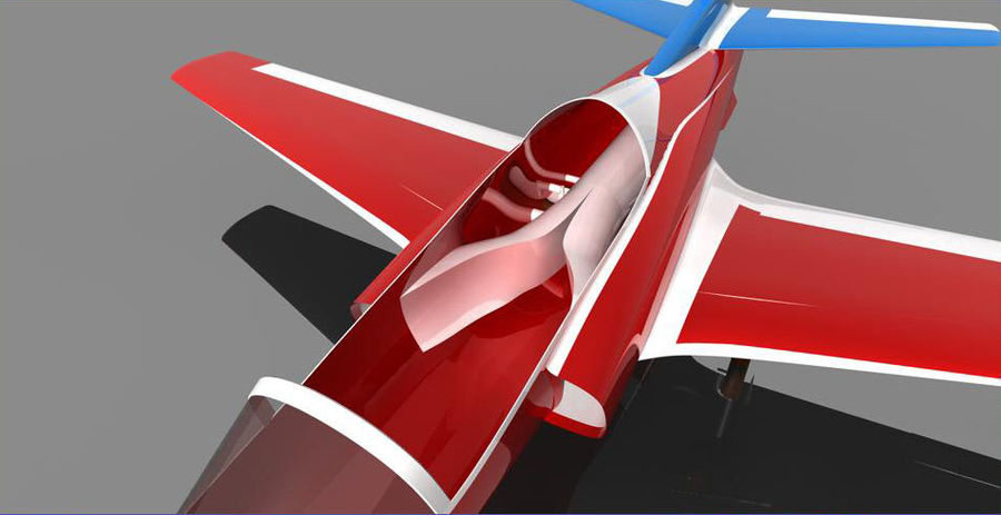 Viper jet royalty-free 3d model - Preview no. 10
