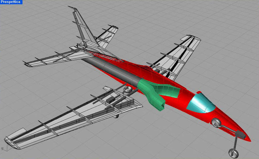 Viper jet royalty-free 3d model - Preview no. 30