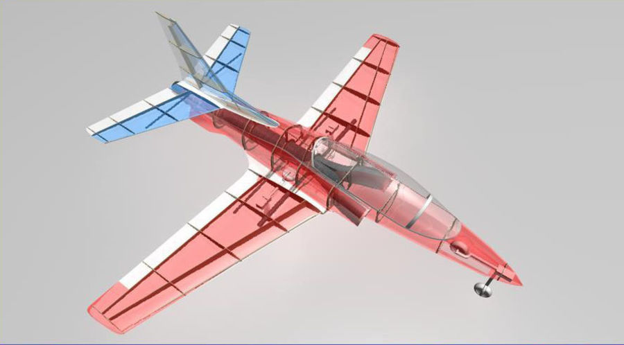 Viper jet royalty-free 3d model - Preview no. 16